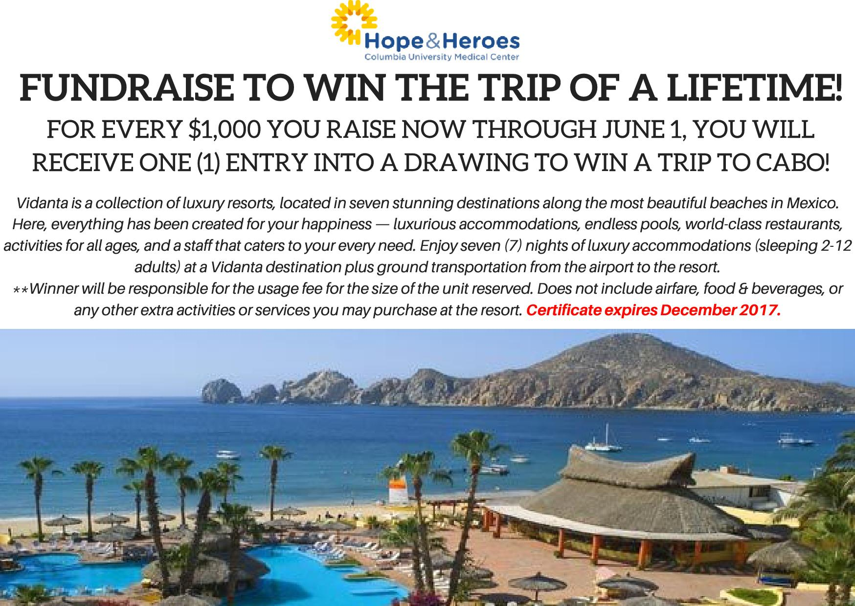 Win A Trip to Cabo!